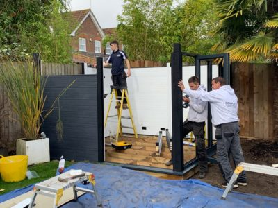 Garden Room In Leicester, Installation In Progress Copy Copy